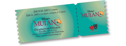 Feb 8-10 @ 7:30pm Feb 11 @ 12:30, 4:00pm, and 7:30pm Meadwovale Theatre Box Office: 905-615-4720 Address: 6315 Montevideo Rd. Mississauga